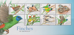 AUSTRALIA, 2018, MNH, BIRDS, FINCHES, LIMITED EDITION SHEETLET AVAILABLE ONLY IN YEAR PACK, SCARCE - Food