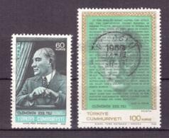 Turquie 1968 - Oblitéré - Mustafa Kemal Atatürk - Michel Nr. 2110-2111 (tur459) - 1921-... République