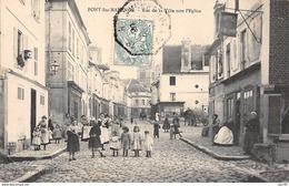 60    .    N° 202450      .        PONT SAINTE  MAXENCE            .           RUE DE LA VILLE VERS L EGLISE - Pont Sainte Maxence