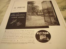 ANCIENNE PUBLICITE LE PORTAIL EST OUVERT FLY TOX 1935 - Publicités