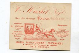 Carte Pub  Maison Huchet à Palais ( Belle Ile En Mer )avec Carte Au Verso - Cartes De Visite