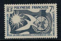 Polynésie Française // 1958 //  10ème Anniversaire De La Déclaration Des Droits De L'homme, Timbre Neuf** MNH Y&T No.12 - Polynésie Française