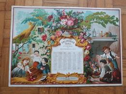 Calendrier Style Chromo Journal Des Demoiselles 1863. - Kalenders