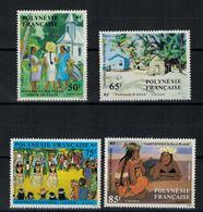 Polynésie Française // 1984 //  Peintres En Polynésie, Timbre Neuf** MNH Y&T No.223-226 - Polynésie Française