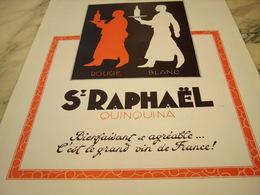 ANCIENNE PUBLICITE BIENFAISANT ET AGREABLE ST RAPHAEL  APERITIF 1935 - Alcohols