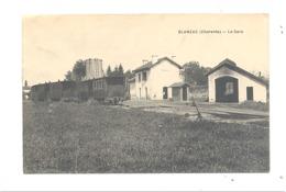 BLANZAC (16)  - La Gare , Train, Chemin De Fer , Statie, Station - 1914   (fr75) - Other Municipalities