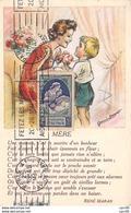 Illustrateur . N° 51830 . Bouret . Mere . Carte Maximum.plie - Bouret, Germaine