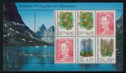 Groenland 1996 // Flore, Orchidées Bloc-feuillet Neuf ** MNH No.Y&T 263-265 - Groenland