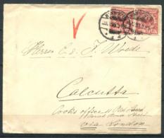 Germania Reich 1889-1893 Mi. 47 Busta 100% Viaggiato Calcutta, Londra, Seapostoffice - Storia Postale