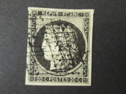 FRANCE 1849 / 1850 Timbre CERES 20c - 1849-1850 Ceres