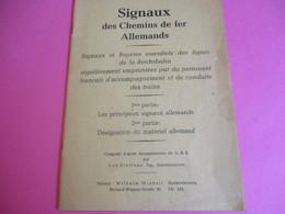 """""""Signaux Des Ch De Fer Allemands""""/Libération/REICHSBAH/Personnel Français D'accompagnement Et De Conduite/1945    TRA46 - Ferrocarril"""