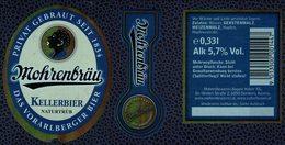 Autriche Lot 3 Etiquettes Bière Beer Labels Mohrenbräu Kellerbier - Bière