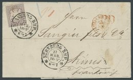 BAYERN 18 BRIEF, 1869, 12 Kr. Hellbraunviolett Mit K2 NÜRNBERG BHF Auf Kabinettbrief Nach Frankreich - Bavaria