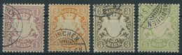 BAYERN 71-74 O, 1911, Postscheckpapier, Prachtsatz, Mi. 90.- - Bavaria