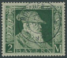 BAYERN 87I O, 1911, 2 M. Luitpold, Type I, Normale Zähnung, Pracht, Mi. 80.- - Bavaria