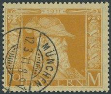 BAYERN 90I O, 1911, 10 M. Luitpold, Type I, Pracht, Mi. 85.- - Bavaria