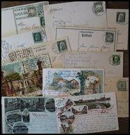 BAYERN Ca. 1896-1913, 12 Gebrauchte Belege, Teils Ansichtskarten, Fast Nur Pracht - Bavaria