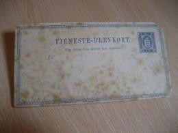 2 Sk Tjeneste - Brevkort Postal Stationery Card DENMARK - Entiers Postaux