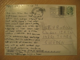 HONOLULU 1999 To Tumba Sweden Stamp Cancel WAIKIKI Beach Diamond Head Post Card HAWAII - Hawaii