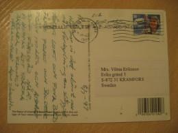HONOLULU 1997 To Kramfors Sweden Stamp Cancel KONA TOWN Post Card HAWAII - Hawaï