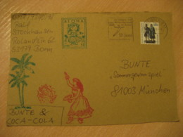 BONN 2000 To Munchen Germany ALOHA Painting Post Card HAWAII - Hawaii
