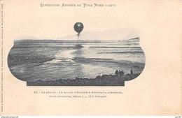 MISSIONS .n°54424. Expédition Andrée Au Pole Nord. Le Départ. Le Ballon S'éloigne Et Disparait. - Missions
