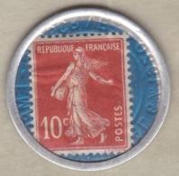 Timbre Monnaie Crédit Lyonnais 1920. 10 Centimes Semeuse. - Publicités