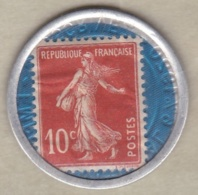 Timbre Monnaie Crédit Lyonnais 1920. 10 Centimes Semeuse. - Monetari / Di Necessità