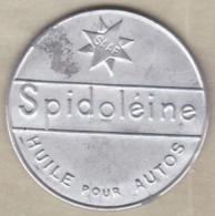 """Timbre Monnaie """" SPIDOLEINE """" Huile Pour Autos. 10 Centimes Semeuse - Publicités"""