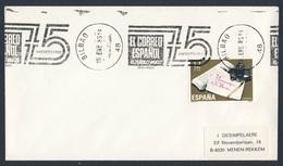 Spain Espana 1985 Cover Brief Envelope - 75e Aniv El Corerro Espanol - El Pueblo Vaso 1910-1985, Bilbao / Newspaper - 1931-Heute: 2. Rep. - ... Juan Carlos I