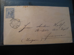 AMSTERDAM 1893 To FIUME Hungary Cancel Postal Stationery Cover NETHERLANDS Holland - Periode 1891-1948 (Wilhelmina)