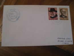 REYKJAVIK 1980 London 1980 Cancel 2 Europa Stamp On Cover ICELAND - 1944-... Repubblica