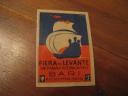 BARI 1930 Fiera Del Levante Campionaria Int. Poster Stamp Label Vignette ITALY - Italia