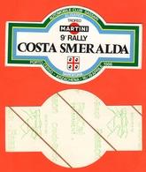 Auto Cars Rally Costa Smeralda Sardegna 1986 Adesivo  9°edizione Porto Cervo Arzachena - Adesivi
