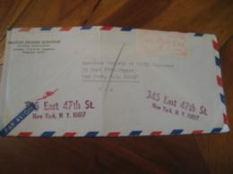 LJUBLJANA 1968 To New York USA Meter Mail Cancel Air Mail Cover YUGOSLAVIA - 1945-1992 République Fédérative Populaire De Yougoslavie