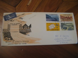 MASERU 1969 Roof Of Africa Rally FDC Cancel Air Mail Cover LESOTHO - Lesotho (1966-...)