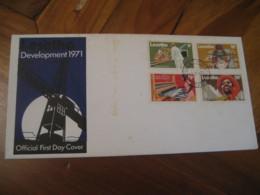 MASERU 1971 Development Diamond Mining Pottery Weaving Construction FDC Cancel Cover LESOTHO - Lesotho (1966-...)