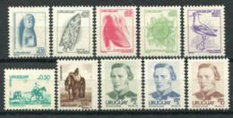 Uruguay 1976 Nuovo ** 100% Coralli, Arte, Fiori, Josè G. Artigas - Uruguay