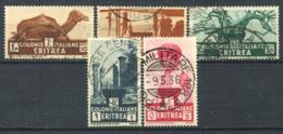 Eritrea 1933 Sass. 205-207,209,211 Usato 100% Colonie Italiane - Eritrea
