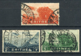 Eritrea 1936 Sass. 19,23,25 Usato 40% Posta Aerea 60C., 1L., 5L. - Eritrea
