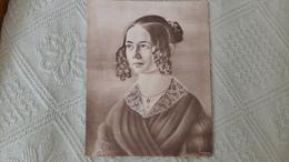 """Pastel Exécuté Par Louis Pasteur """"Sophie Roch"""" En 1939 Format: 16 X 21,5 Cm - Pastelli"""