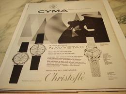 ANCIENNE PUBLICITE LA NOUVELLE NAVYSTAR MONTRE  CYMA 1964 - Joyas & Relojería