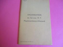 "SNCF/""Organisation Du Service MT Maschinendienst-Allemand""/Occupation De L'Allemagne/1945    TRA47 - Ferrocarril"