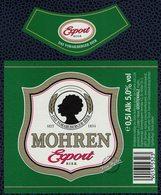 Autriche Lot 2 Etiquettes Bière Beer Labels Mohrenbräu Mohren Export Bier - Bière