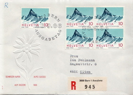 Postal History Cover: Switzerland Registered FDC - Holidays & Tourism
