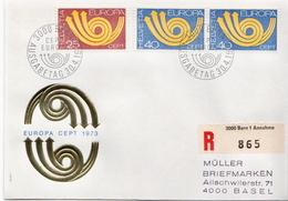 Postal History Cover: Switzerland Registered FDC - Europa-CEPT