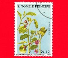 S. TOME' E PRINCIPE - 1988 - Piante Medicinali - Solanum Ovigerum - 10 - Sao Tomé E Principe