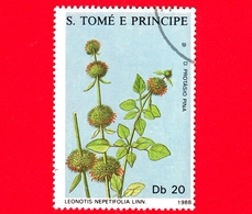 S. TOME' E PRINCIPE - 1988 - Piante Medicinali - Leonotis Nepetifolia - 20 - Sao Tomé E Principe
