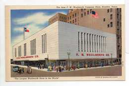 - CPA HOUSTON (Texas / USA) - The New F. W. Woolworth Company Store - - Houston