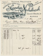 Renaix  Chaussée D'ellezelles 30 - Tissage Mecanique Retorderie Hippolyte Neckebroek - 1908 - Tres Bon état - Belgique